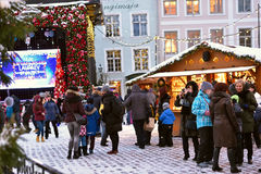 Christmas market in Tallinn. Royalty Free Stock Image