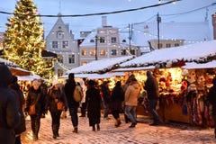 Christmas market in Tallinn Royalty Free Stock Photography