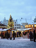 Christmas market in Tallinn Royalty Free Stock Photography
