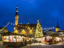 Christmas market in Tallinn, Estonia Royalty Free Stock Photo