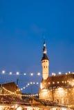 Christmas Market On Town Hall Square - Raekoja Plats In Tallinn, Stock Image