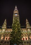 Christmas market at town hall in Vienna Stock Images