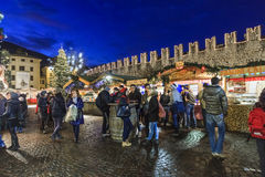 Christmas market in Trento, Italy Stock Photography