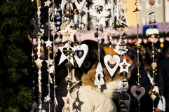 Christmas market. Typical Christmas market in Italy stock image