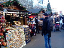 Christmas market on Vaclavske namesti, Prague, Czech Republic Stock Photography