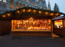 Christmas market in Vienn Stock Photos