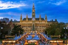 Christmas Market Vienna Stock Photos