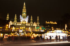Christmas market, Vienna. Christmas market in front of Rathaus, Vienna, Austria Royalty Free Stock Photo