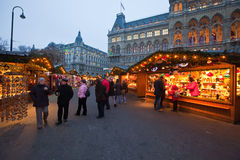 Christmas market in Vienna, Austria Stock Photos