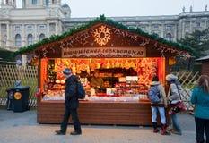 Christmas market in Vienna, Austria Royalty Free Stock Photo