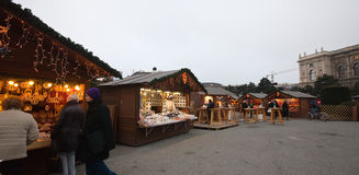 Christmas market in Vienna, Austria Stock Photo