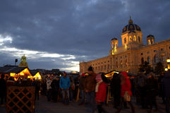 Christmas market Vienna, Austria Royalty Free Stock Photography