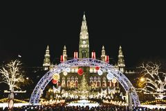 Christmas Market in Vienna Austria royalty free stock image
