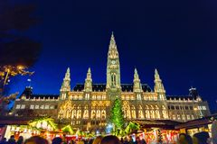 Christmas market in Vienna royalty free stock photos