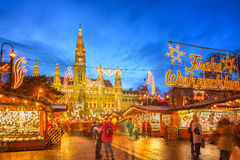 Christmas market in Vienna royalty free stock images