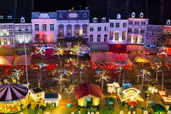 Christmas market on Vrijthof in Maastricht, Netherlands Royalty Free Stock Photo