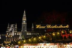 Christmas Market in Wien Royalty Free Stock Image
