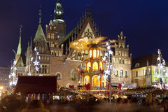 Christmas market, Wroclaw- European city of culture 2016 Stock Image