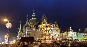 Christmas market, Wroclaw,Poland- European city of culture 2016 Royalty Free Stock Photo