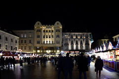 Christmas markets in Bratislava 2016. Christmas markets in Bratislava. Festival of Slovak tradicional foods and drinks Stock Photography