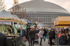 Christmas Markets in Brno exhibition centre Royalty Free Stock Image