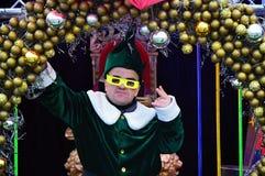 Christmas markets on the Champ Elysées Stock Photos