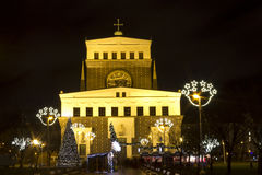 Christmas markets on King George of Poděbrady Sq. Stock Photos