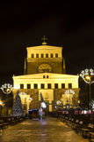 Christmas markets on King George of Poděbrady Sq. Royalty Free Stock Photo