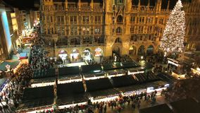 Christmas markets in Munich, Germany. stock video footage