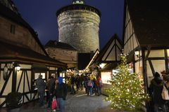 Christmas markets of Nurnberg, Germany. royalty free stock photography