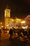 The Christmas Markets at the Old Town Square in Prague, Czech Republic Stock Photography