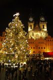 The Christmas Markets at the Old Town Square in Prague, Czech Republic Royalty Free Stock Photos
