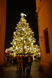 The Christmas Markets at the Old Town Square in Prague, Czech Republic Royalty Free Stock Photo
