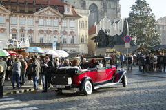 The Christmas Markets at the Old Town Square in Prague, Czech Republic Royalty Free Stock Image