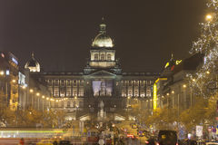 2014 - Christmas markets at Wenceslas square, Prague Stock Photos