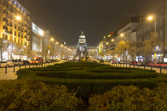 2014 - Christmas markets at Wenceslas square, Prague Stock Images