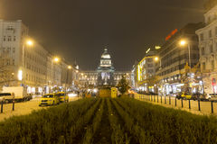 2014 - Christmas markets at Wenceslas square, Prague Royalty Free Stock Photos