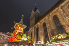Christmas markt in Hannover Stock Photos