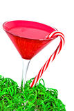 Christmas martini with candy cane Stock Photography