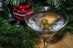 Christmas martini Royalty Free Stock Images