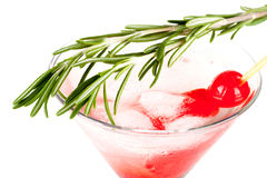 Christmas martiny cocktail Royalty Free Stock Image