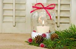 Christmas Mason Jar Royalty Free Stock Images