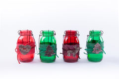 Christmas Mason Jars Stock Images
