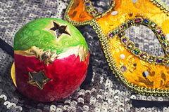 Christmas masquerade mask for the carnival Stock Photography