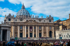 Christmas mass celebrated by Pope Francis royalty free stock photo