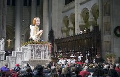 Christmas Mass Saint John Divinue Church Royalty Free Stock Images