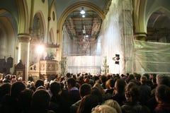 Christmas mass in Sarajevo Stock Image