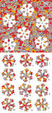 Christmas: Match pieces, visual game. Solution in hidden layer! Stock Photo