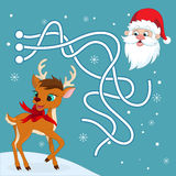Christmas maze game Royalty Free Stock Images