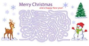 Christmas maze game Stock Photo